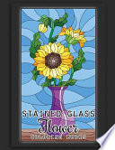 Stained Glass Flower Coloring Books