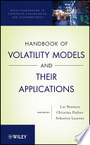 Handbook of Volatility Models and Their Applications Book