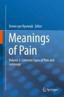 Meanings of Pain Pdf/ePub eBook