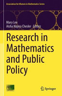 Research in Mathematics and Public Policy Book