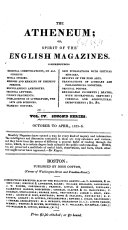 Spirit of the English Magazines