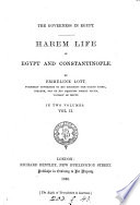 The Governess in Egypt  Harem Life in Egypt and Constantinople