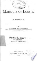 The Marquis of Lossie Book