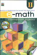 E math Ii  2007 Ed  intermediate Algebra  Book