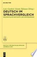 Deutsch im Sprachvergleich
