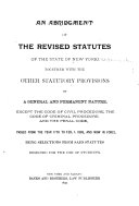 An Abridgment of the Revised Statutes of the State of New York