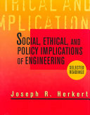 Social  Ethical  and Policy Implications of Engineering
