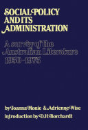 Social Policy and Its Administration