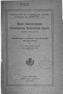 Publicacions de la Junta de Ciències naturals de Barcelona
