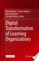 Digital Transformation of Learning Organizations Book