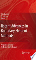 Recent Advances In Boundary Element Methods Book PDF