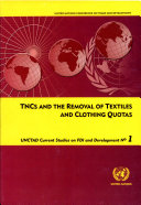 TNCs and the Removal of Textiles and Clothing Quotas