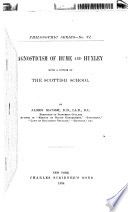 Agnosticism of Hume and Huxley  with a Notice of the Scottish School
