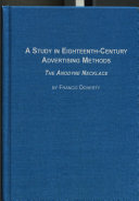 A Study in Eighteenth-century Advertising Methods ebook