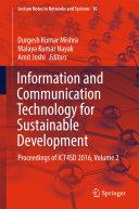 Information and Communication Technology for Sustainable Development [Pdf/ePub] eBook