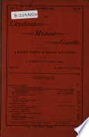 The Cleveland Medical Gazette Book