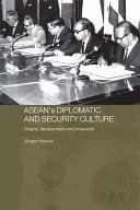 ASEAN's Diplomatic and Security Culture ebook