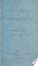Thoughts on Temperance  By American women  Mrs  E  L  Comstock  Mrs  Pearsall Smith  Mrs  Catharine Talbot  Mrs  C  A  Phillips Book