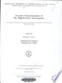 Accurate Characterization of the High-pressure Environment