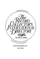 The Record Collector s International Directory
