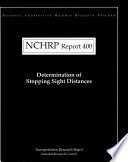 Determination of Stopping Sight Distances