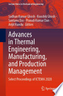 Advances in Thermal Engineering, Manufacturing, and Production Management