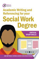 Academic Writing and Referencing for your Social Work Degree