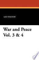 War and Peace Vol  3   4 Book