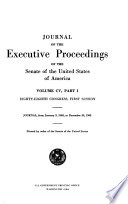 Journal Of The Executive Proceedings Of The Senate Of The United States Of America