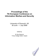 ECIW2008-Proceedings of the 7th European Conference on Information Warfare and Security