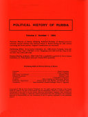 Political History of Russia Book
