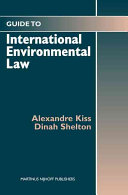 A Guide to International Environmental Law