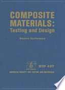 Composite Materials Testing And Design Second Conference  Book PDF