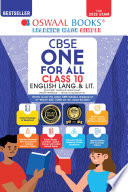 Oswaal Cbse One For All English Lang Lit Class 10 For 2022 Exam