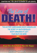 The Law of Economy of Life  Death