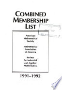 Combined Membership List of the American Mathematical Society and the Mathematical Association of America