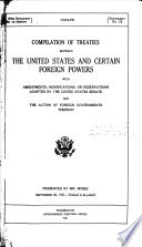 Compilation of Treaties Between the United States and Certain Foreign Powers Book