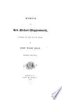 Memoir Of Rev Michael Wigglesworth