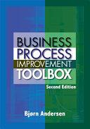 Business Process Improvement Toolbox Pdf/ePub eBook