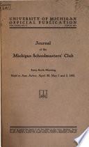 Journal of the Michigan Schoolmasters' Club