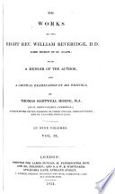 The Works of the Right Rev. William Beveridge: An exposition of the Thirty-nine articles of the Church of England