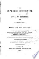 The Improved Housewife  Or  Book Of Receipts