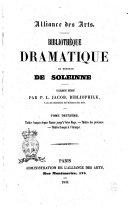 Bibliothèque dramatique de monsieur de Soleinne catalogue rédigé par P. L. Jacob