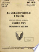 Research and Development of Materiel, Engineering Design Handbook, Automotive Series, the Automotive Assembly
