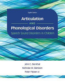 Articulation and Phonological Disorders Book