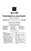 The Johns Hopkins Nurses Alumnae Magazine Book