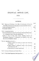 The Colonial Office List for