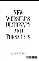 New Webster's dictionary and thesaurus