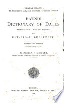 Specimen Pages Prospectus Opinions Of Haydn S Dictionary Of Dates