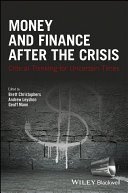 Money and Finance After the Crisis Pdf/ePub eBook